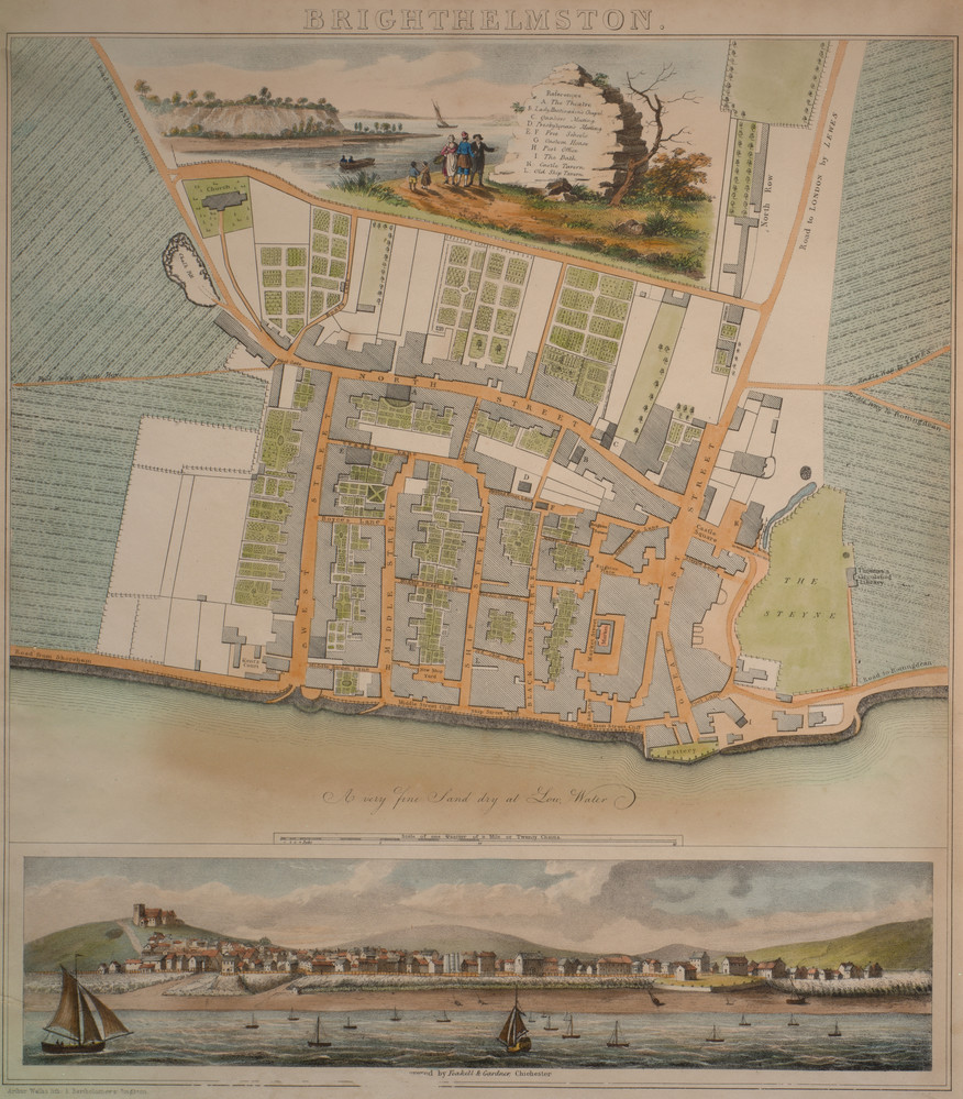 Permalink to:Yeakell & Gardner's Map of Brighthelmston, 1779