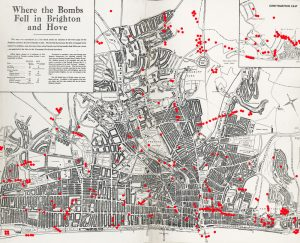 Bomb map of Brighton, 1944